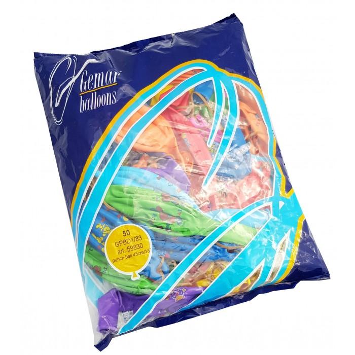 Gemar Pack of 50 Balloons Elastic Rice ba19815