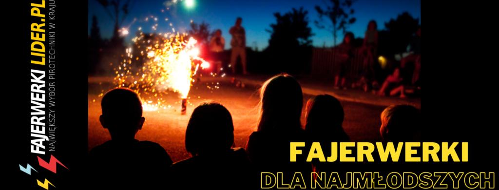 dzieci oglądają fajerwerki