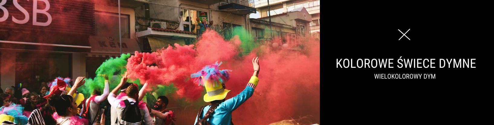 Kolorowe Świece Dymne - Pokoloruj powietrze wokół